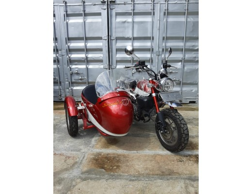 Honda Monkey Motorbike with Sidecar Red