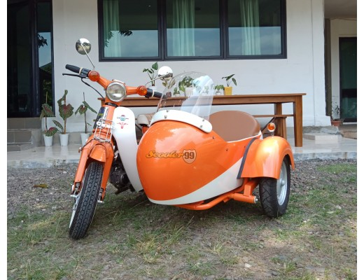 Honda Mini Cup With Sidecar Orange