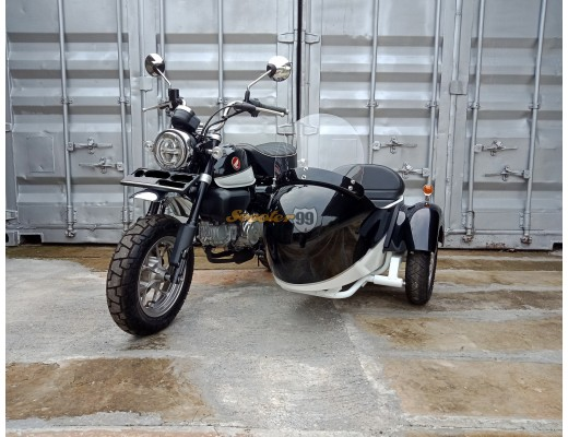 Honda Monkey Motorbike with Sidecar Black