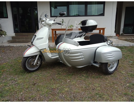Sidecar Peugeot Django White Silver