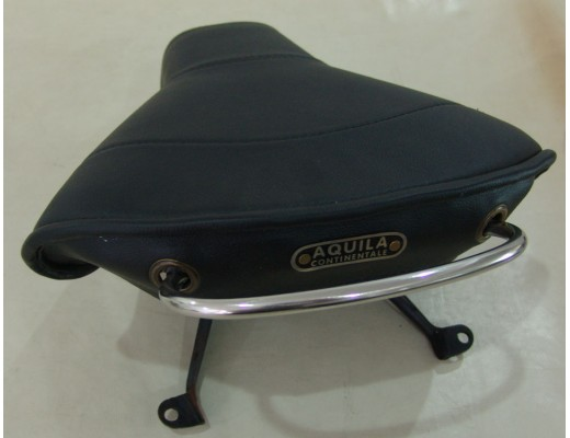 Single Saddle front, black